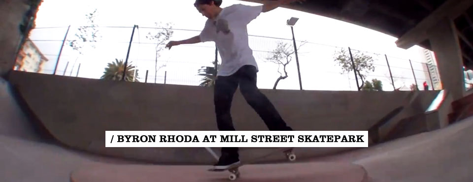 Byron Rhoda at Mill Street Skatepark